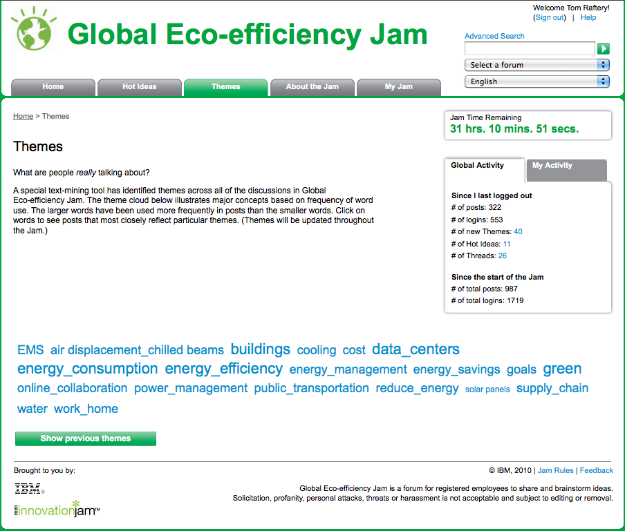 IBM Eco Jam – 1 day in!