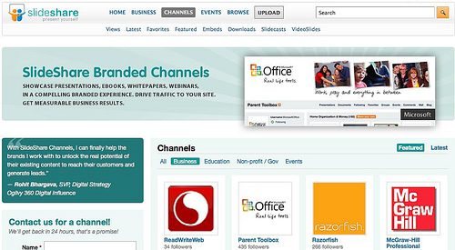 Channels for Business Content on SlideShare