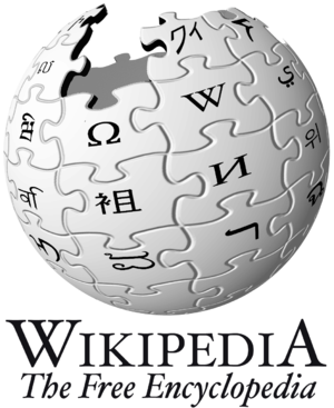 The logo of Wikipedia.