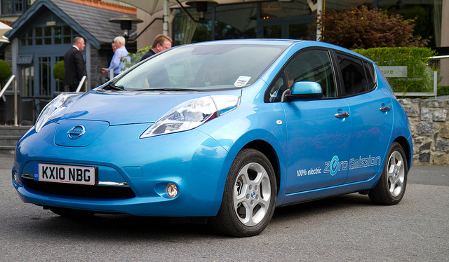 The zero-emissions Nissan Leaf test drive