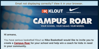 Targeting Consumers with Klout