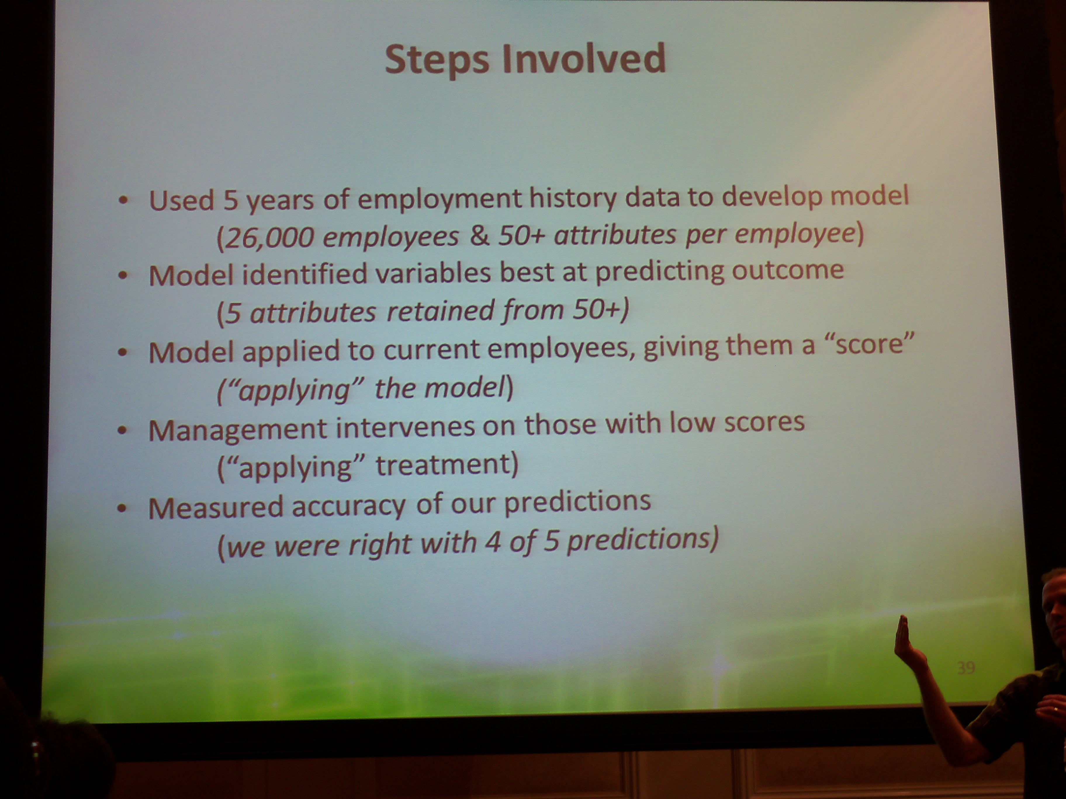 Predictive Analytic work steps - Copyright 2012 TechVentive, Inc.