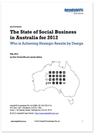 State Of Social Business in Australia White Paper for 2012