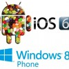 Google Android 4.1 Jelly Bean vs Apple iOS 6 vs Microsoft Windows 8