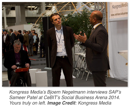 SAP's Sameer Patel at Social Business Arena 2014