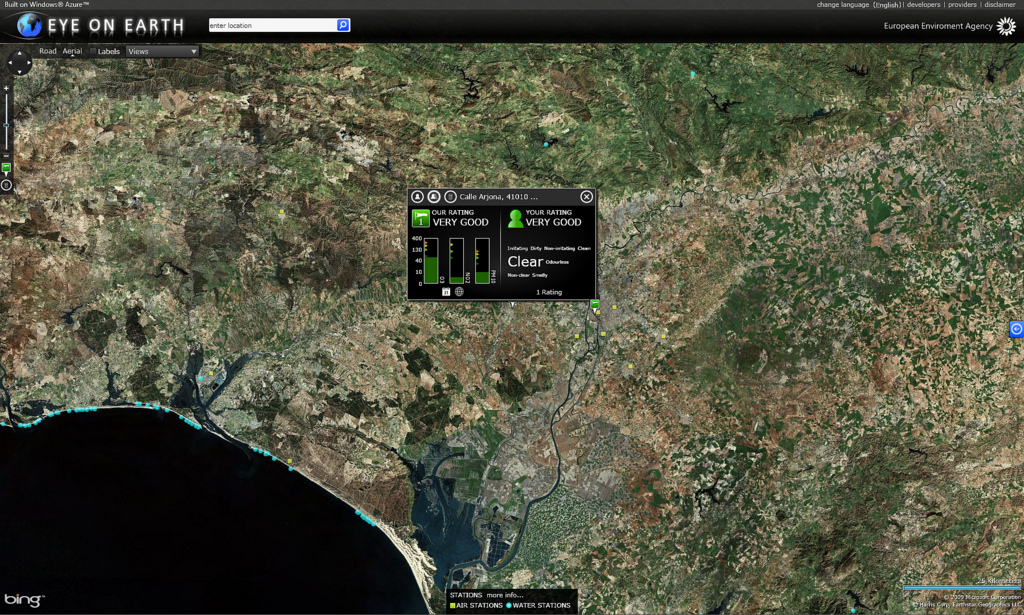 New version of Eye on Earth site – more data, less visible!