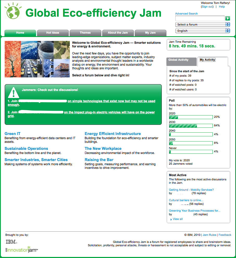IBM Global Eco-Efficiency Jam Day 2