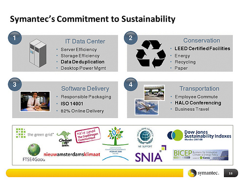 Symantec's Sustainability Story: It's The Power Consumption, Stupid.