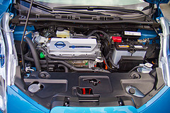 Nissan Leaf under the hood