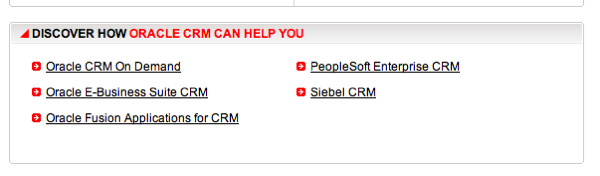 Oracle CRM Products