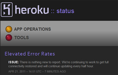 Heroku status is down