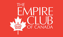 Joining the Board of the Empire Club of Canada!