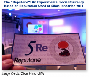 An Example of Social Currency: The Reputone From Innotribe