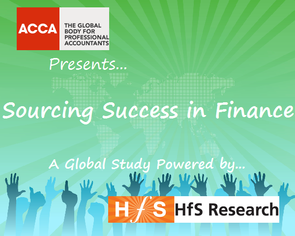 Are you achieving sourcing success with your finance?  ACCA and HfS have teamed up to find out…