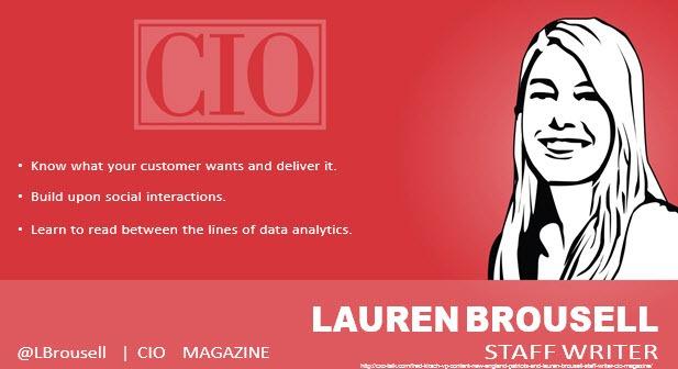 Lauren Brousell, Staff Writer, CIO Magazine