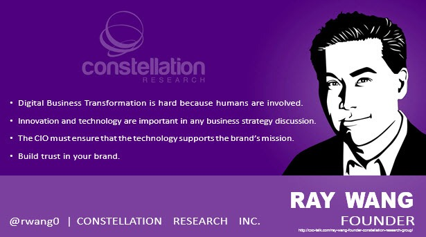 Ray Wang, Founder, Constellation Research
